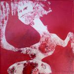 Série Framboise : danse (20x20cm)