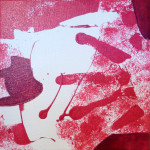 Série Framboise : la gifle (20x20cm)
